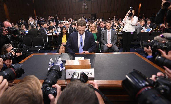 Facebook CEO Mark Zuckerberg testified about Facebook's practices before the U.S. Senate in April.