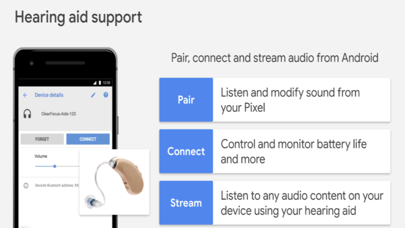 Android hearing aid streaming support