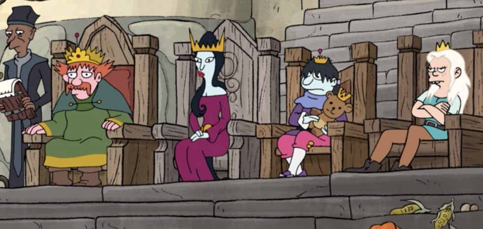 Zog's unhappy family, including Bean's stepmom and half-brother.