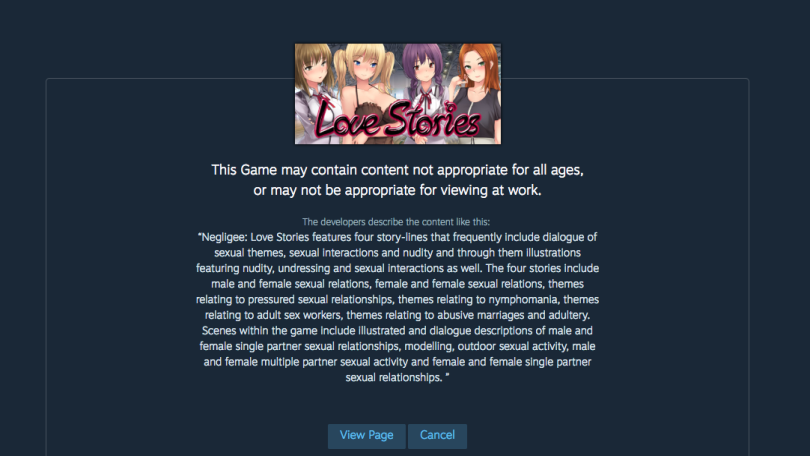 Steam Store Adult Game