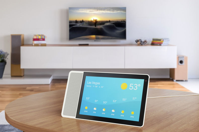 This Lenovo Google Assistant Smart Display is one of the first devices to ship with Android Things.