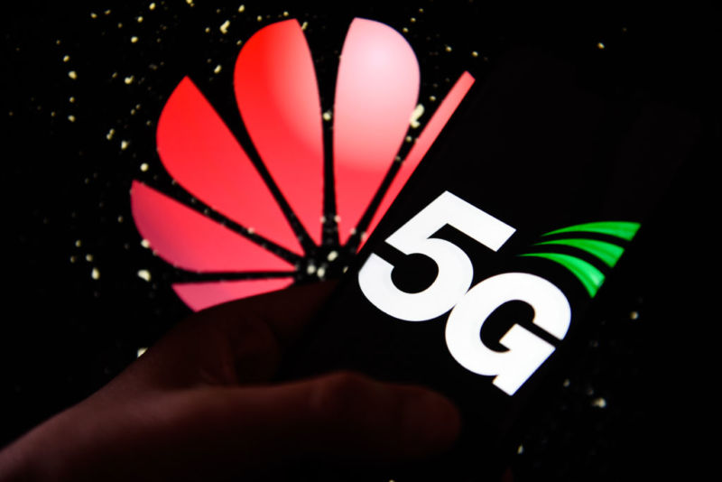 5G Logo in the shape of a butterfly.