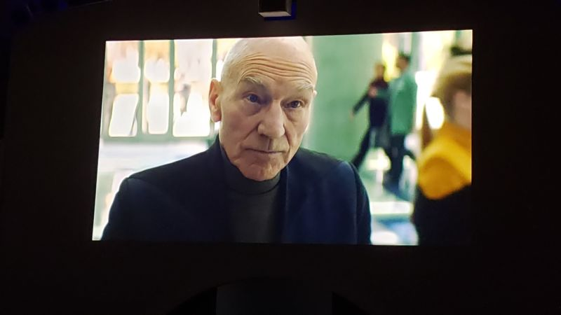 A photo taken of the brief video clip CBS showed at the Upfronts.