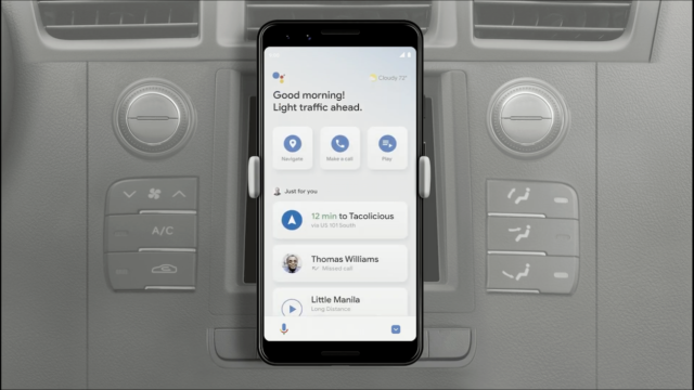 What Google Assistant's new driving mode will look like.