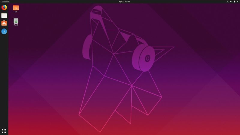 "Behold, the default desktop for the latest Canonical release: Ubuntu 19.04, gloriously nicknamed ""Disco Dingo."""