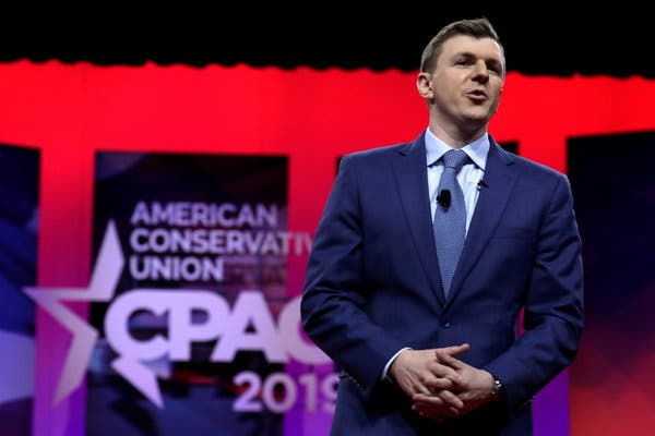 James O'Keefe, the right-wing founder of Project Veritas, speaking at the Conservative Political Action Conference in March.