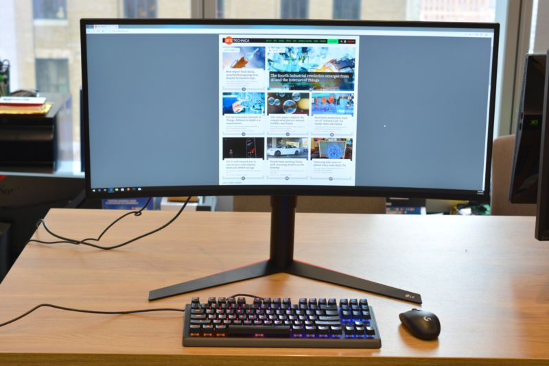 The LG 34GK950F, our favorite ultrawide gaming monitor.
