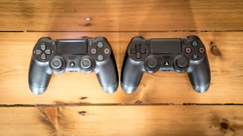 Sony's DualShock 4 controller for the current-generation PlayStation. The report says the new controller looks similar but has major new haptic features.