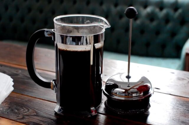 Cold-brew coffeeinvolves mixing coffee grounds with room-temperature water and letting the mixture steep for anywhere from several hours to two days.