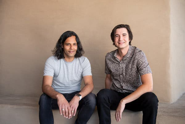 Robinhood's co-founders and co-chief executives, Baiju Bhatt, left, and Vlad Tenev, created the company to make investing accessible to everyone.