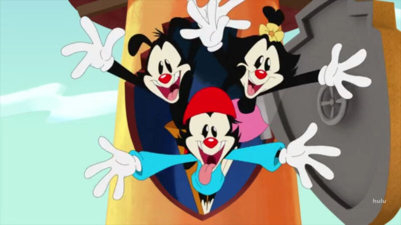 Promotional image for Hulu's reboot of Animaniacs.