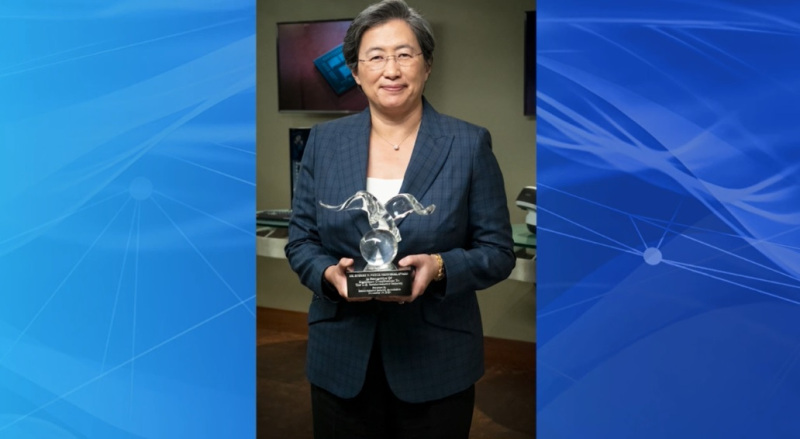 Lisa Su of AMD gets the Noyce Award.